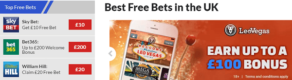 Free Bets Online