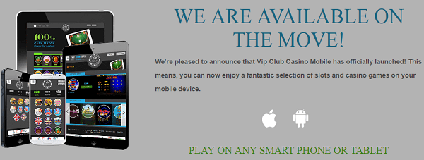 VIP Casino Club Mobile