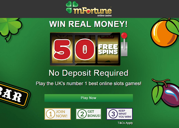 mFortune No Deposit Casino Bonus