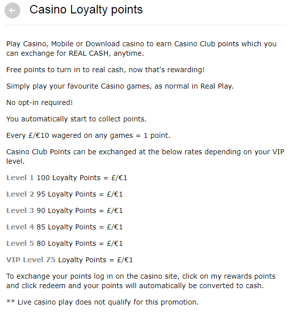 Paddy Power Casino Rewards