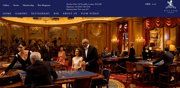 Ritz casino london roulette livre sur le poker cultura